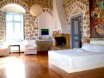 Master suite with private balcony, bath and windows in all directions