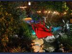 new! Asian Garden. Bridge & Koi Ponds at night.
