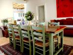 Indoor dining table seats 8