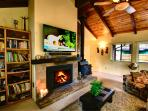 Cozy on up to the Fireplace & 60' HDTV