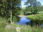 The Water of Girvan runs by the village, perfect for a picnic