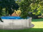 our swimming pool for weekly guests