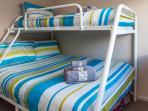 Bedroom 2- Queen bed with single