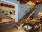 Stairway leading to lower level Kitchen & Living Room