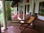 The relaxing verandah. ..