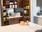 A bespoke larder and wine store