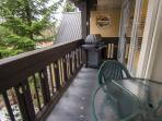 Main floor deck with gas bbq