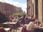 Saramago terrace at the CCA overlooking Sauchiehall Street