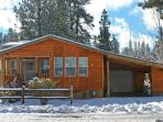 The front of Big Bear Hideaway during winter!