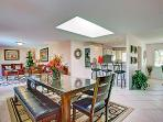 Huge living room and kitchen area can easily accommodate large groups with plenty of seating