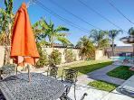 Fenced pool, two patio dining tables, plenty of space for 4 families to enjoy! BBQ, lounge chairs