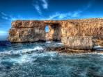 Majestic Azure Window in Gozo.