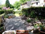 A communal garden area