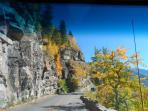 Going to the Sun Road in fall