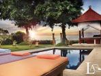 beach view from villa gilis pool
