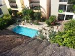 Swimming-pool upper view