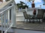 Beautiful deck always shaded by the silver maple tree. Huge yard with grill and lawn furniture below