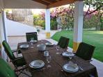 Villa Casarao (8 persons) - outdoor furniture, patio and garden.