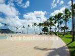 Waikiki Beach walking path nearby