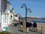Part of the promenade at Lyme Regis