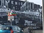 Lots of murals all over Venice.