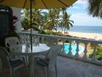 Outdoor dining, ocean view terrace
