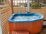 Enjoy your own private hot tub on lower deck
