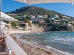 El Portet, just below to the South is another great spot with nice beach cafes, blue flagged as well
