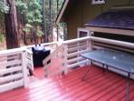 Upper sun deck at Yosemite Hideaway Unit 'A'