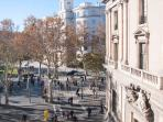 View to las Ramblas from the balcony!