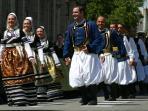 Festival de Cornouaille chaque année en juillet.