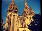 Majestueuse cathédrale que les Quimpérois ont mis 600 ans à construire.