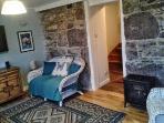 The newly refurbished TV room