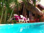 lap pool and bungalow maria