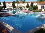 The communal pool - it's normally not much busier than this!