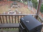 Picnic table, firepit and grill. Kids love the outdoors.