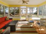 Screened Porch overlooks the Bay