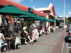 local cafe (2 mins walk)
