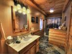 Second bathroom with heated floors