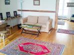 The Salle - French for living room - provides room to rest and regroup!