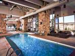 There's a great heated indoor pool in the lodge for year-round enjoyment.