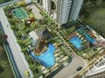 3 pools, basketball, fitnes gym, jogging track, pick-nick and gazebo