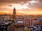 Puesta de sol en Málaga