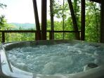 Kick Back in the Secluded Hot Tub with a Mountain View