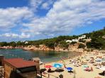 Cala Gracio beach only a 5 minute walk from the villa