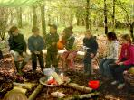 During school holidays children can take part in our regular Wild in the Woods activity days