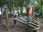 The woodland play area provides a natural and safe place for children to have fun and make friends