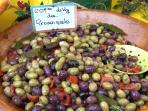 Les Terrasses - Gordes : market - olives
