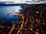 Rijeka by air at night
