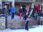 Enjoy unparalleled Ritz-Carlton service with a ski concierge carrying your skis